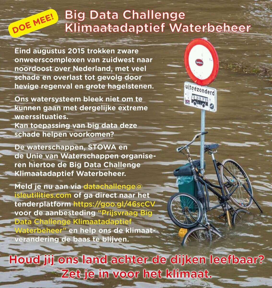 Big Data Challenge Klimaatadaptief Waterbeheer van start