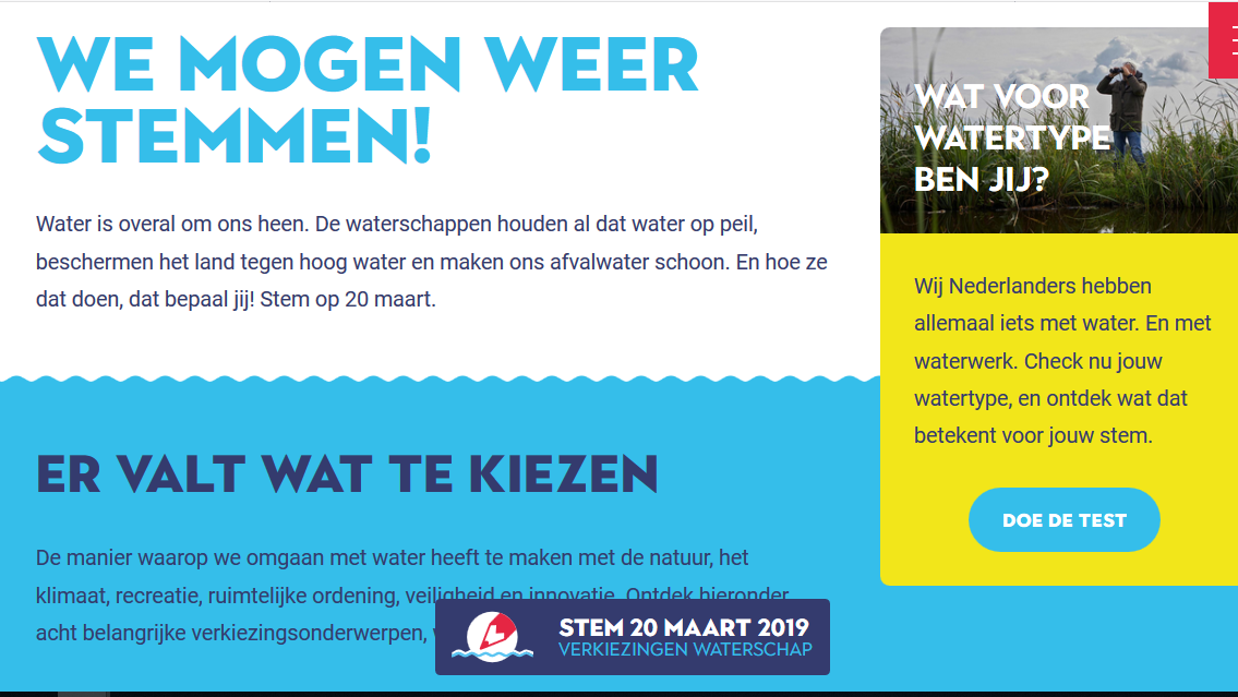 campagne waterschapsverkiezingen van start